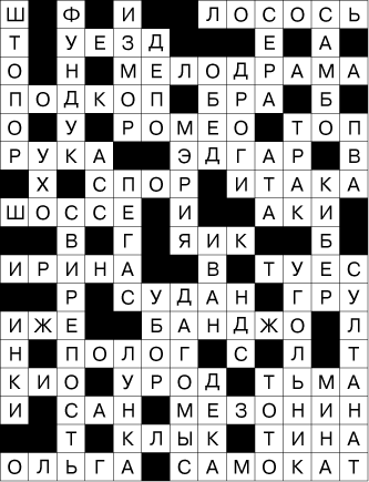 """Сканворд """"Полиглот"""" - ответы"""