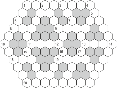 Шестиугольный кроссворд